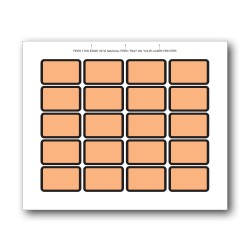 Orange Blank Exhibit Labels