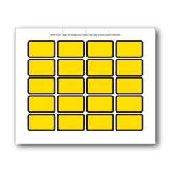 Yellow Blank Exhibit Labels