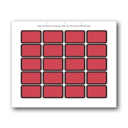 Red Blank Exhibit Labels