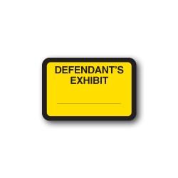 "Yellow Exhibit Labels ""DEFENDANT'S EXHIBIT"""