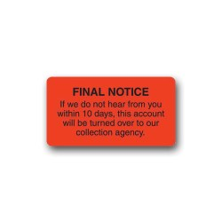 """Final Notice"" Label"