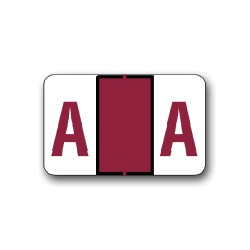 """Tab Products & Jeter 5100 Color Coded Alphabetical Labels """"A"""" (15/16"""" x 1-1/2"""")"""