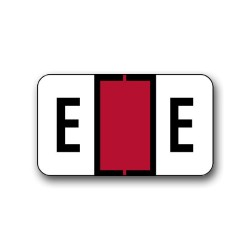 "Jeter 0200 Color Coded Alphabetical Labels ""E"" (15/16"" x 1-5/8"")"