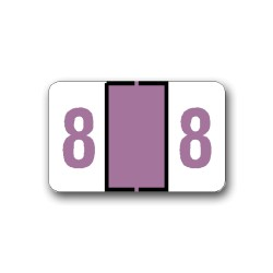 "Tab Products & Jeter 6100 Color Coded Numerical Labels ""8"" (1"" x 1-1/4"")"