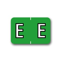 "Barkley ABKM Color Coded Alphabetical Labels ""E"" (1"" x 1-1/2"")"