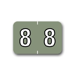 "Barkley NBKM Color Coded Numerical Labels ""8"" (1"" x 1-1/2"")"