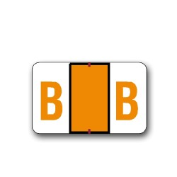 """Tab Products & Jeter 5100 Color Coded Alphabetical Labels """"B"""" (15/16"""" x 1-1/2"""")"""