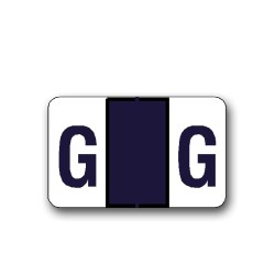 """Tab Products & Jeter 5100 Color Coded Alphabetical Labels """"G"""" (15/16"""" x 1-1/2"""")"""