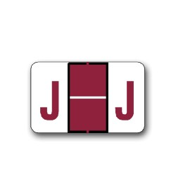 "Tab Products & Jeter 5100 Color Coded Alphabetical Labels ""J"" (15/16"" x 1-1/2"")"