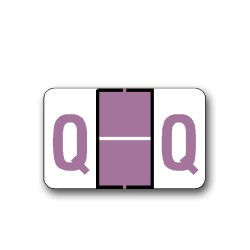 "Tab Products & Jeter 5100 Color Coded Alphabetical Labels ""Q"" (15/16"" x 1-1/2"")"