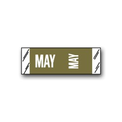 "Col'R'Tab Color Coded Month Labels ""MAY"" (1/2"" x 1-1/2"")"