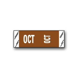 "Col'R'Tab Color Coded Month Labels ""OCT"" (1/2"" x 1-1/2"")"