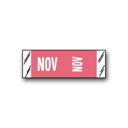 "Col'R'Tab Color Coded Month Labels ""NOV"" (1/2"" x 1-1/2"")"