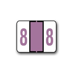 "Tab Products 1282 & Smead BCCRN Color Coded Numerical Labels ""8"" (1"" x 1-1/4"")"