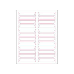 Tabbies Printable Wrap-Around Labels - White