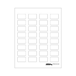 Tabbies Labels-U-Create - White