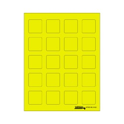 Tabbies Labels-U-Create - Yellow