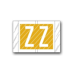 """Col'R'Tab Color Coded Alphabetical Labels """"Z"""" (1"""" x 1-1/2"""")"""
