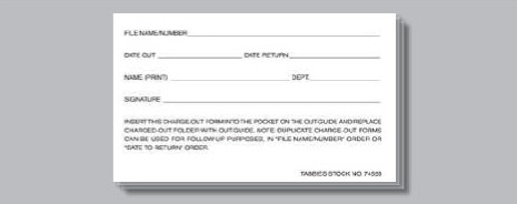 Charge-Out Slips