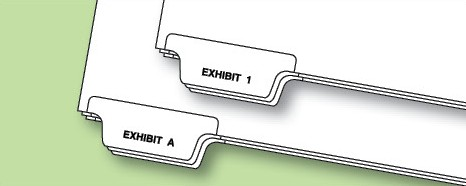 Exhibit Numbers/Letters